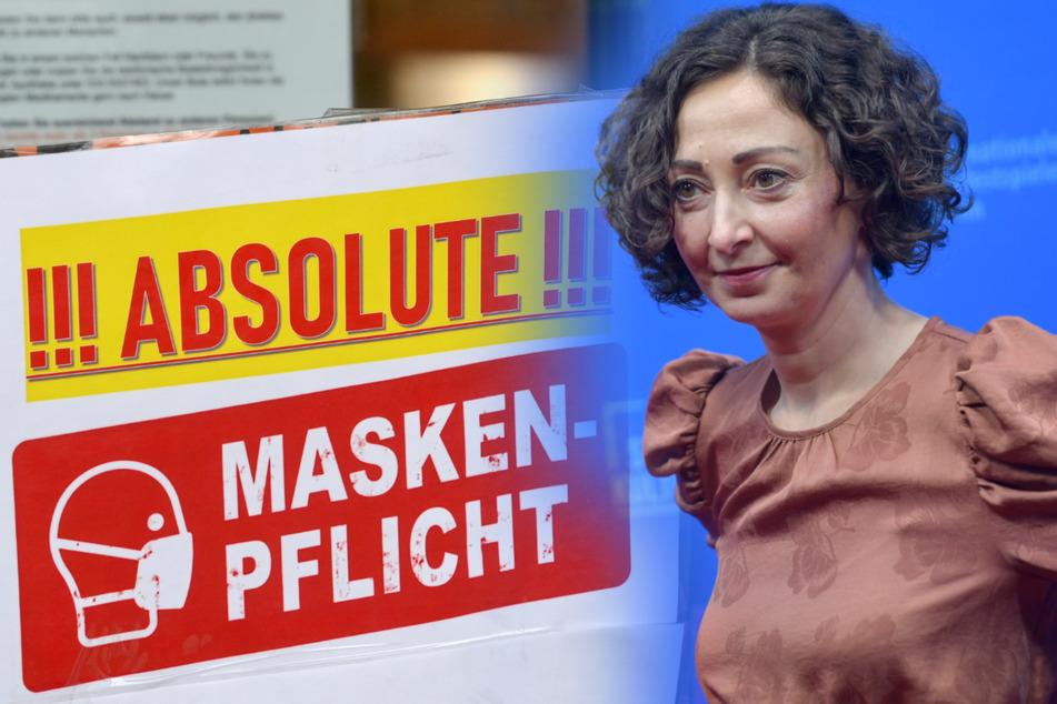 Berlins Wirtschaftssenatorin Ramona Pop (43, Grüne) will die Maskenpflicht in Innenräumen beibehalten.
