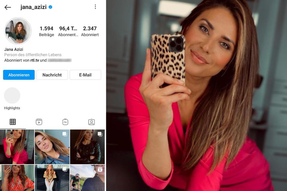 Jana Azizi (31) hat die Kontrolle über ihren Instagram-Account nach einem Hackerangriff zurückerlangt. (Fotomontage)