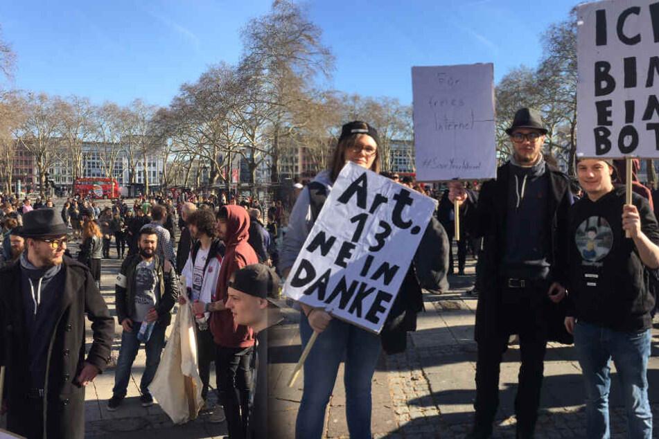 Auch in Köln demonstrierten Hunderte bereits gegen den Artikel 13.