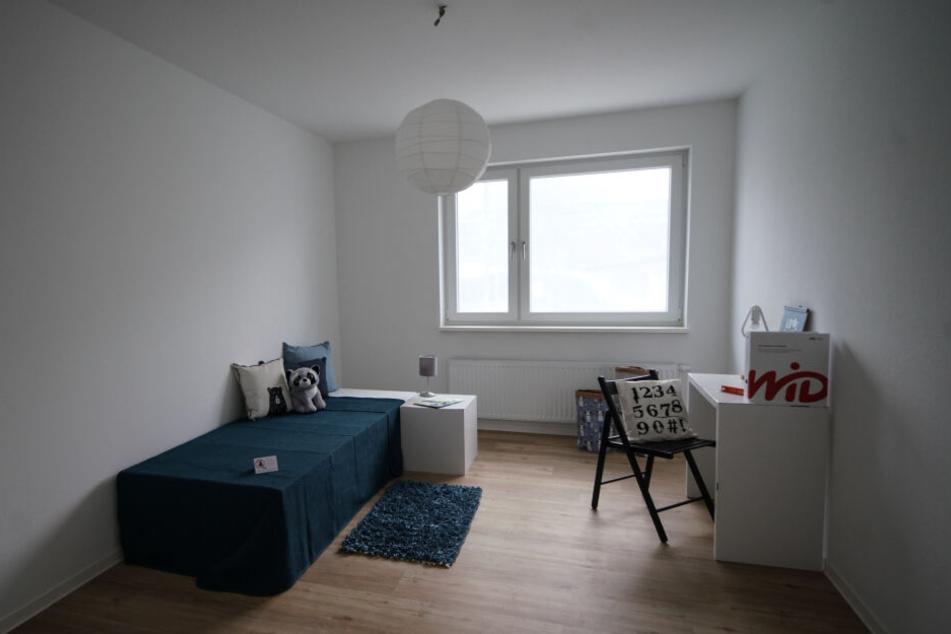Sparsame WiD: Die meisten Möbel in der Musterwohnung sind aus Pappe.