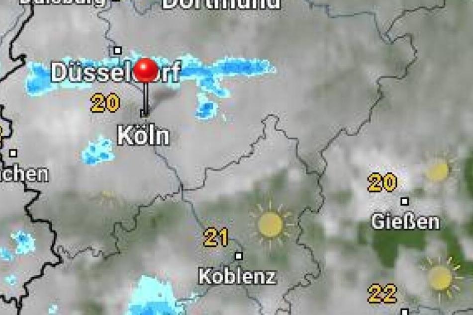 Die Wetterkarte für Köln am Samstag von WetterOnline.