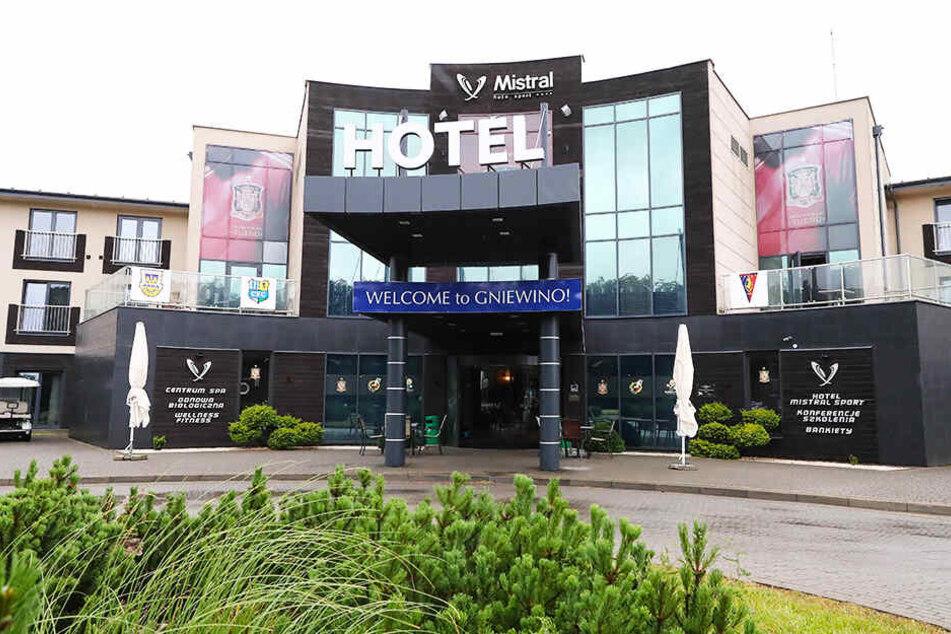 Im Mistral-Sport-Hotel in Gniewino, Polen hält der CFC sein Trainingslager ab.