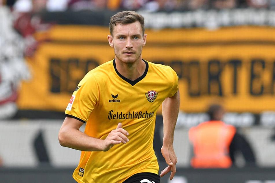 Neuzugang Florian Ballas hat sich  bei Dynamo Dresden schnell zum Stammspieler gemausert