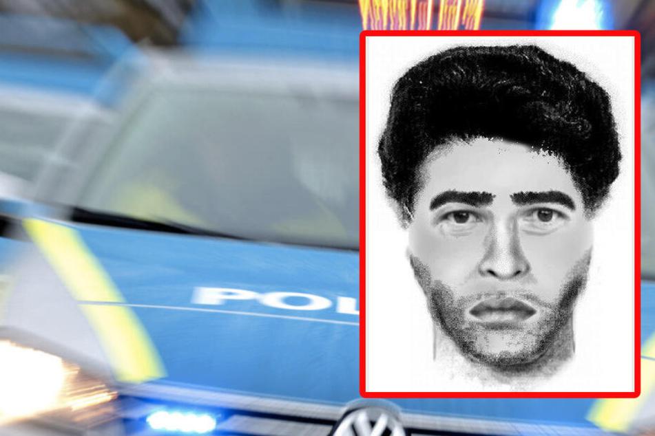Die Polizei fahndet mit einem Phantombild nach dem Mann.
