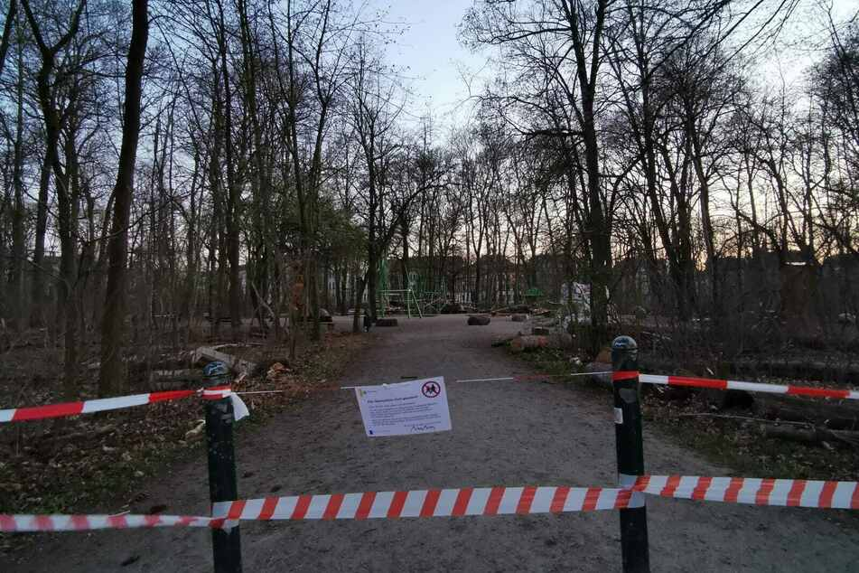 Auch der Spielplatz im Rosental ist gesperrt.