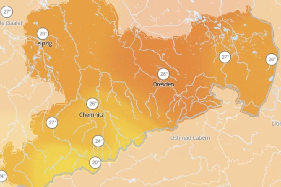 Die Höchsttemperaturen am Wochenende in Sachsen werden an der 30-Grad-Marke kratzen.