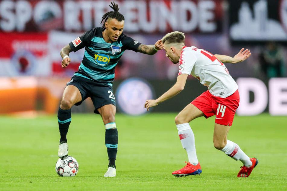 Valentino Lazaro (l.) absolvierte 57 Bundesliga-Spiele für Hertha BSC.