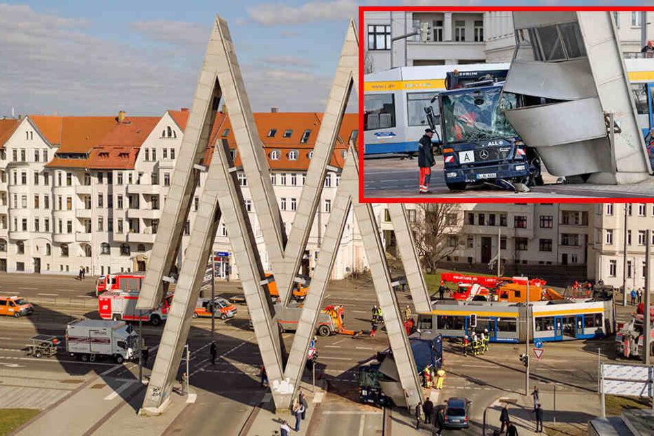 Am Montag hat es auf der Prager Straße mächtig gekracht.