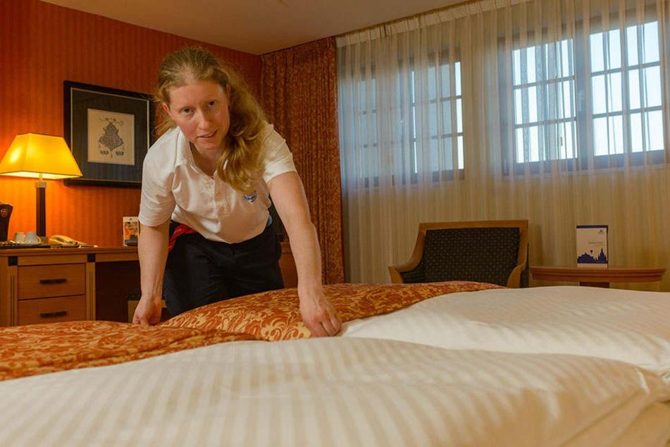 Im Maritim Hotel im  Erlweinspeicher sind die Betten schon gemacht. Hier gibt es für die  Aktionsurlauber außerdem ein preisgünstiges Menü, das dazu gebucht werden  kann.