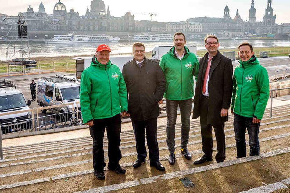 Sein Weltcup wird von Umweltverbänden und Politikern kritisiert: Mitorganisator René Kindermann (42, Mitte).