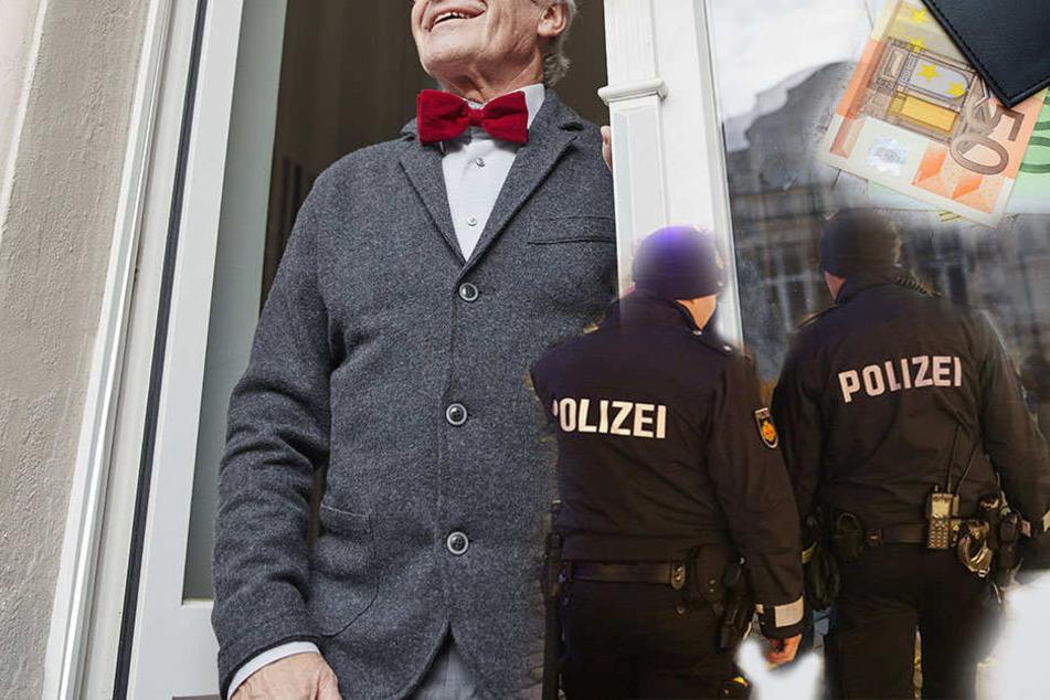 Als Polizeibeamte verkleidet verschafften sich Unbekannte den Zutritt zur Wohnung eines alten Ehepaares, klauten dort Bargeld im vierstelligen Bereich. (Symbolbild)