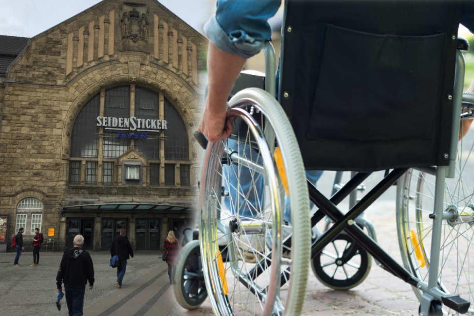 Eine Platzwunde zog sich der Rollstuhlfahrer bei seinem Sturz zu. (Symbolbild)