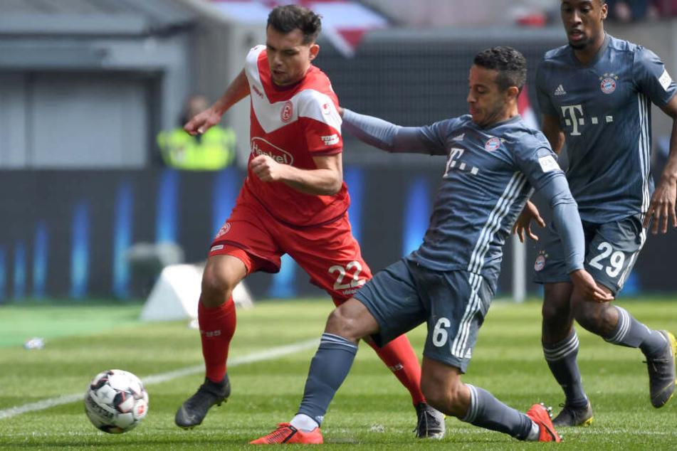 Fortuna Düsseldorf hatte gegen den FC Bayern München keine eine Siegchance.