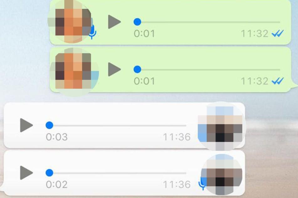 Die Sprachnachrichten werden jetzt automatisch nacheinander abgespielt. Ein Geräusch signalisiert, wann eine Nachricht beendet ist und es startet die nächste.