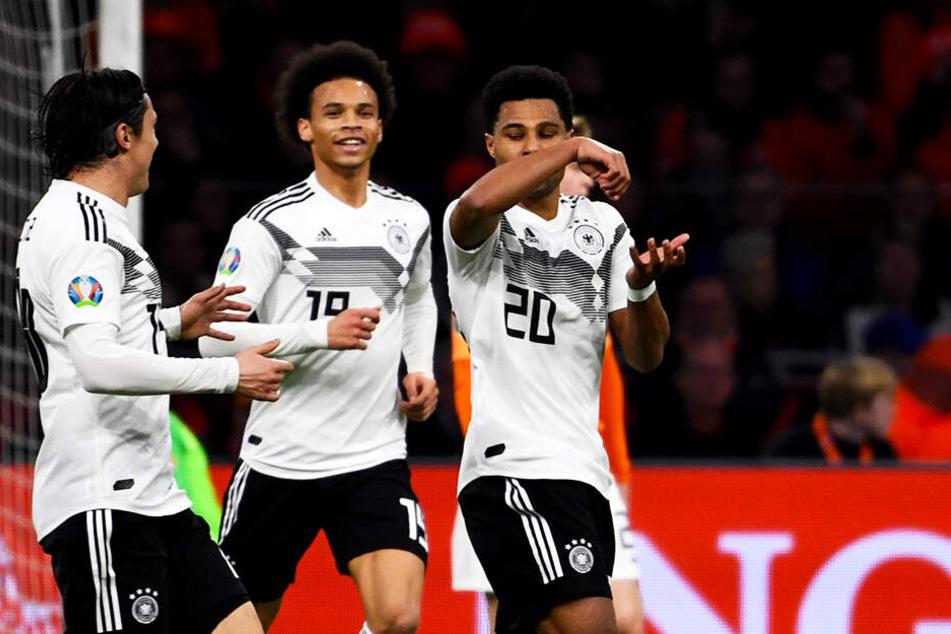 Machten allesamt ein überragendes Spiel, von links: Nico Schulz, Leroy Sané und Serge Gnabry.