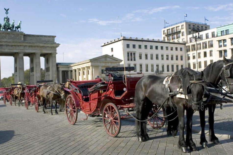 Pferdekutschen dürfen nun vorerst doch wieder durch das Brandenburger Tor.