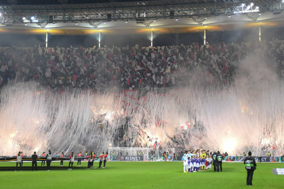 Die Eintracht-Fans sorgten bislang bei jedem Europa-League-Heimspiel für eine Choreographie.