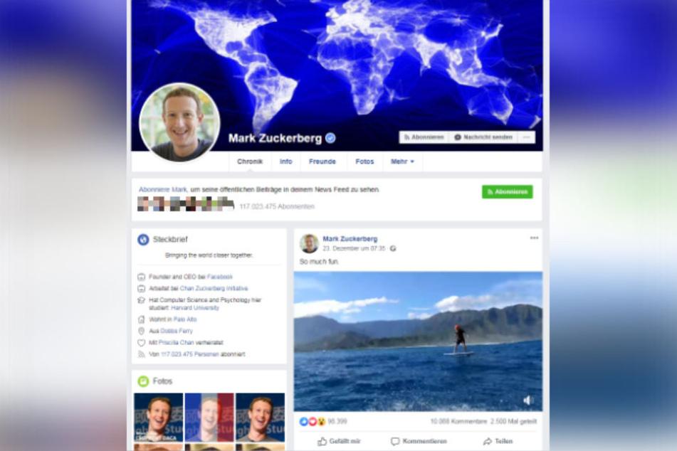 Zum Vergleich: Das alte Chronik-Design von Facebook.