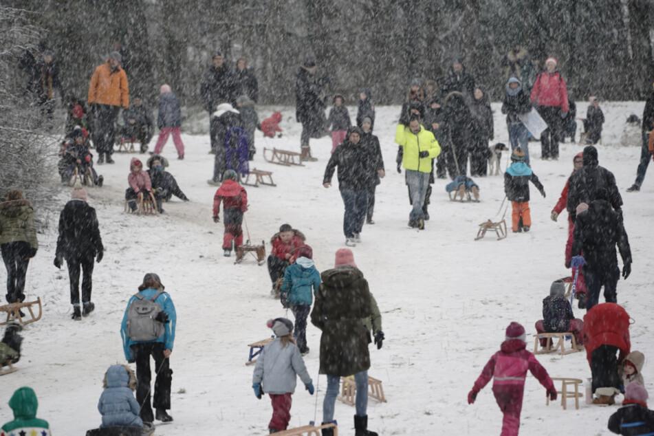 Seltener Anblick: Berliner genießen den Schnee in der Hauptstadt