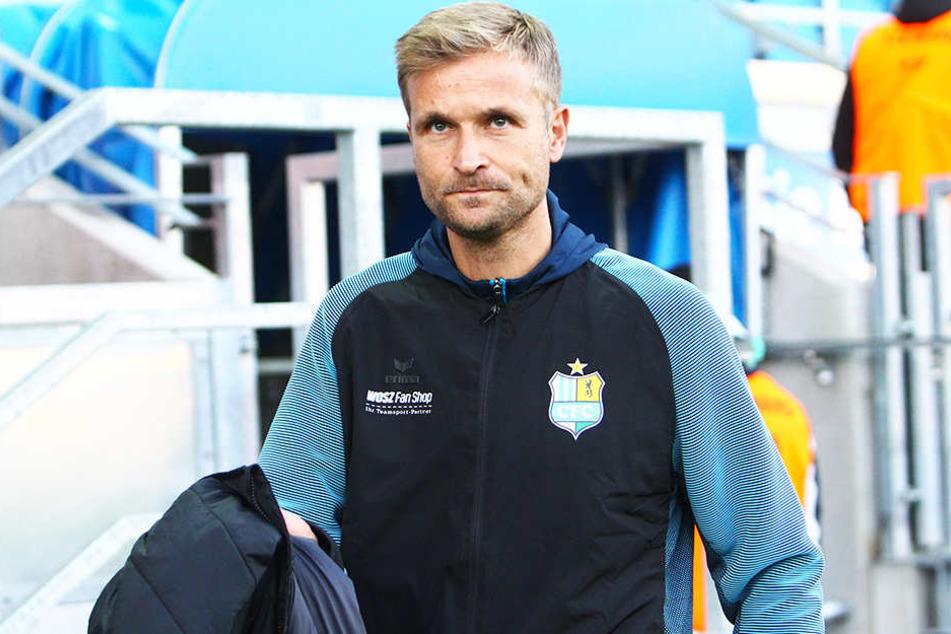 CFC-Coach David Bergner muss auf Pokalheld Tobias Müller verzichten.
