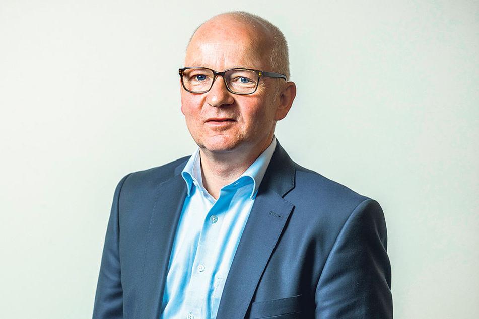 Jürgen Wolf vom City Management Dresden wundert sich über die wenigen Reaktionen  aus der Staatskanzlei.