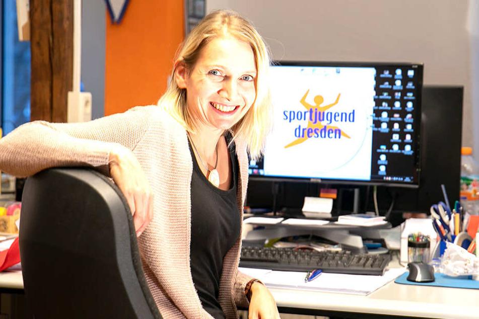 Projektkoordinatorin Christin Friedrich (34) will mit dem Programm mehr junge Dresdner für Freizeitsport begeistern.