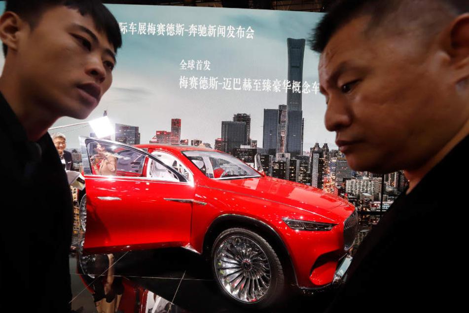 Die Präsentation des Mercedes-Maybach in Peking. Anfang 2018 ist der chinesische Autobauer Geely bei den Stuttgartern eingestiegen.