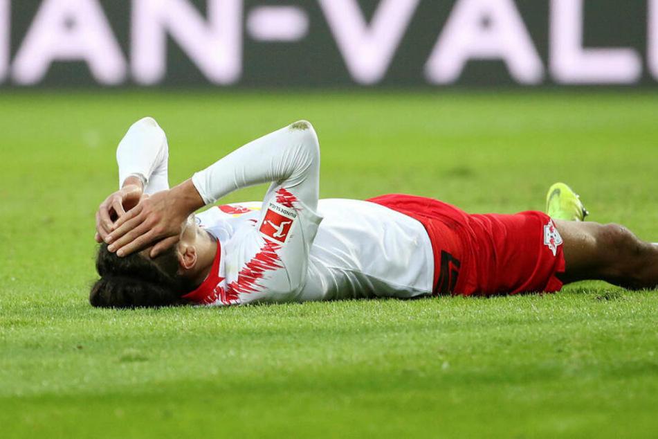 War an vielen Offensivaktionen beteiligt, blieb aber glücklos: Der mit sich hadernde Stürmer Yussuf Poulsen.
