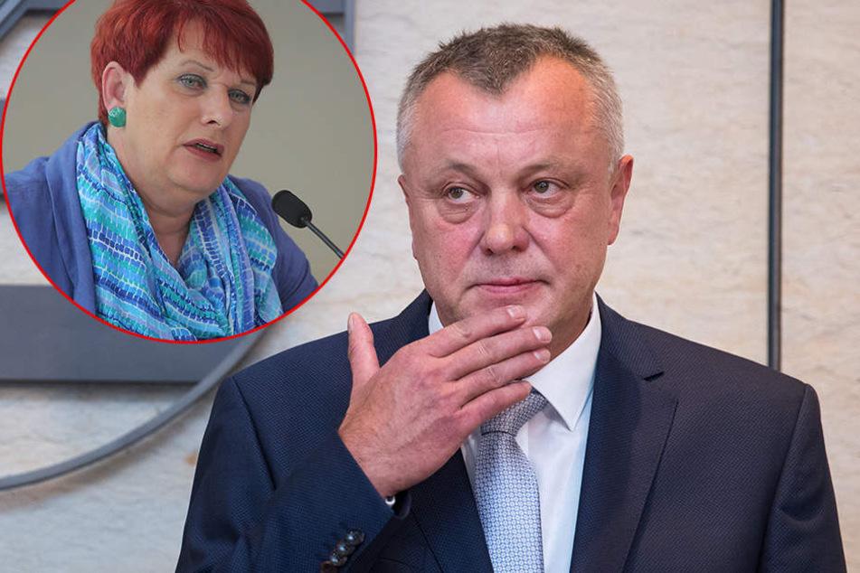 Sachsens GEW-Chefin Uschi Kruse (60) gibt dem Lehrerpaket nur die Note 4. Das bedeutet Stress für Kultusminister Frank Haubitz (59).