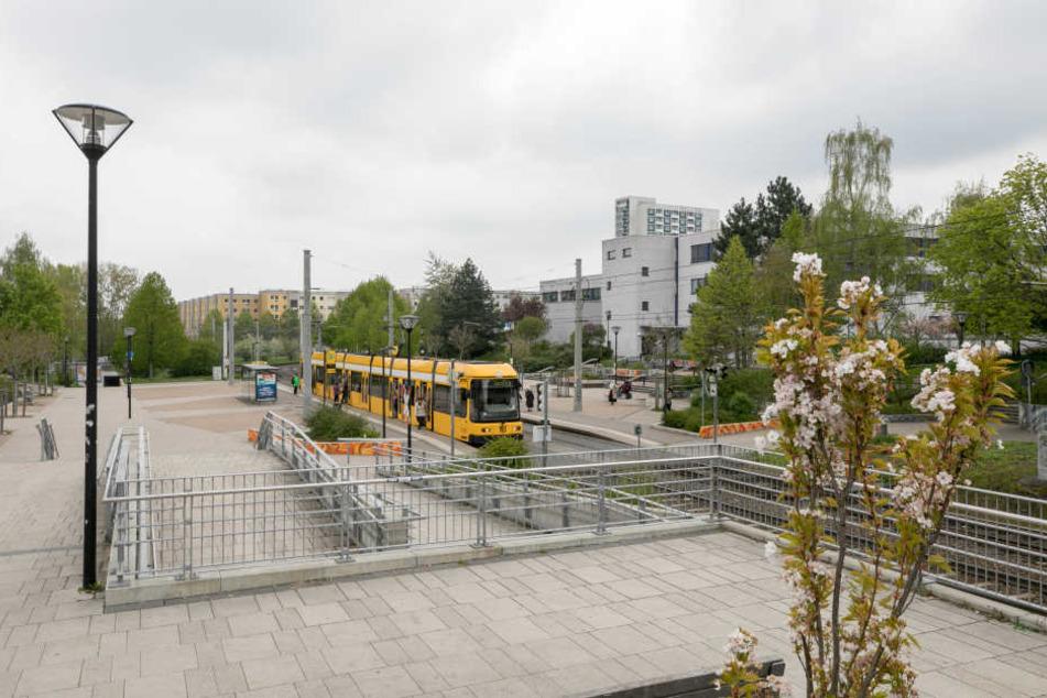 Am Amalie-Dietrich-Platz fand die Auseinandersetzung statt.