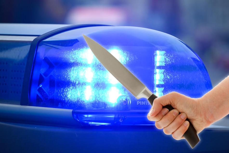 Der Mann ging mit einem Messer auf seinen Kontrahenten los.