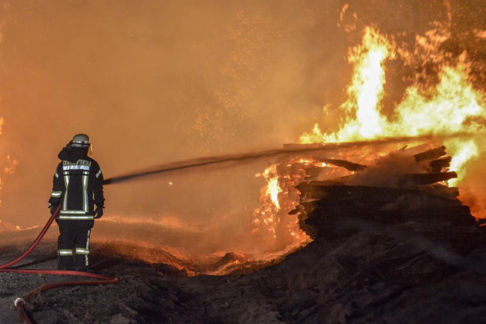 Im Landkreis Wittenberg brannten in der Nacht von Dienstag auf Mittwoch mindestens 40 Hektar Land.