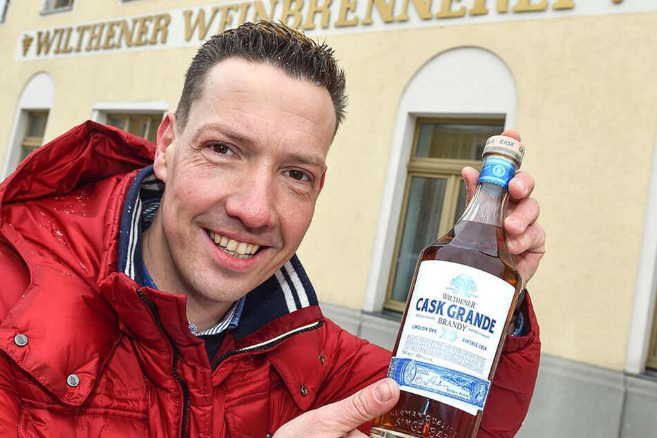 Wilthen, in der Stadt einer der größten Spiritousenhersteller.