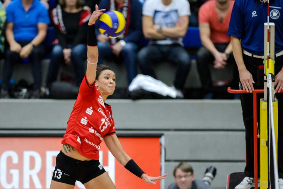 Lisa Izquierdo schmetterte bis 2016 erfolgreich für den Dresdner SC, kehrt nun mit NawaRo Straubing an die Elbe zurück.