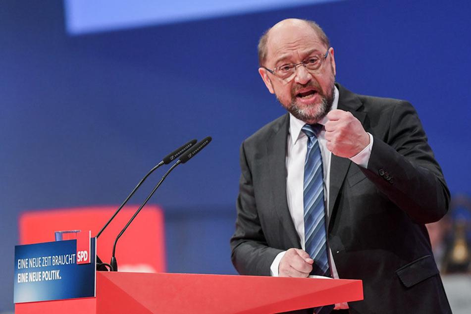 Der Parteivorsitzende Martin Schulz spricht am Sonntag beim SPD-Sonderparteitag in Bonn.