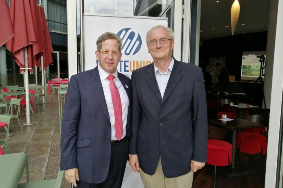 Maaßen (li.) und Henning vor dem Penck-Hotel.