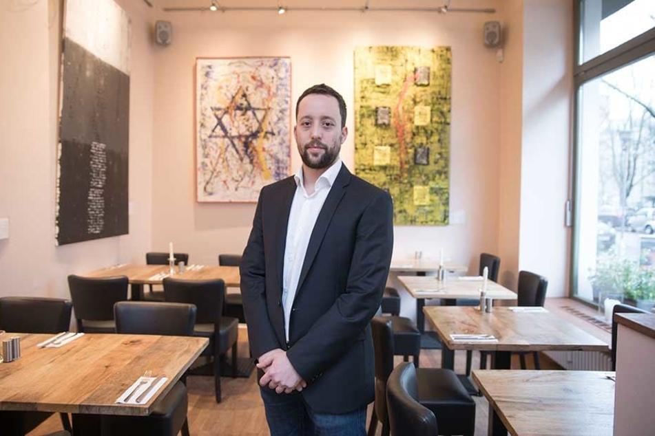 Yorai Feinberg (36) in seinem Restaurant in Schöneberg.