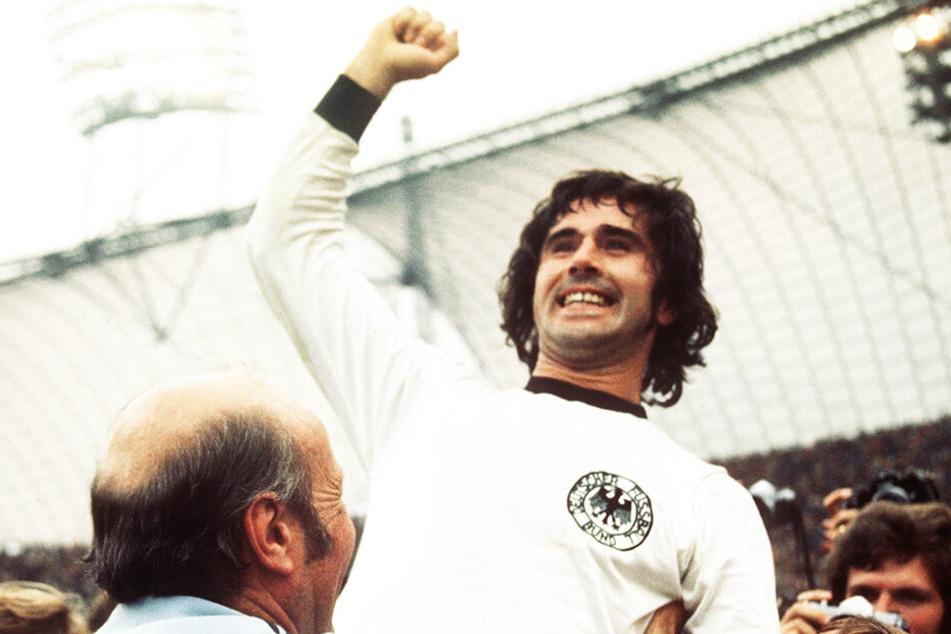Gerd Müller schoss Deutschland mit seinem siegbringenden Tor zum 2:1 gegen die Niederlande zum WM-Titel 1974 und war einer der besten deutschen Stürmer aller Zeiten.