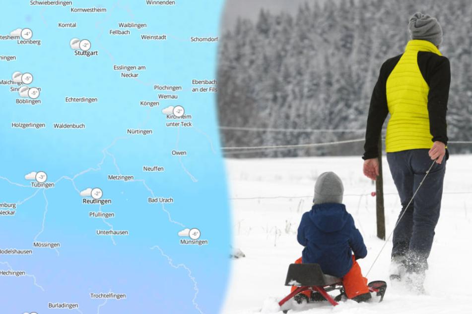 Am Wochenende kommen Schlitten-und Ski-Fans auf ihre Kosten. (Fotomontage/Archivbild)