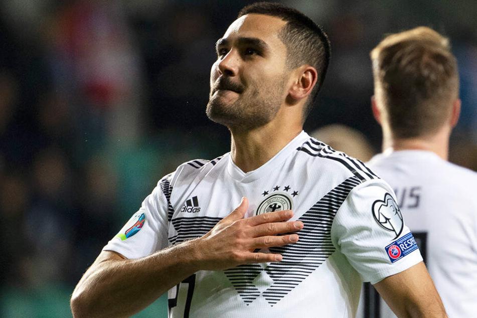 Ilkay Gündogan war Deutschlands Mann des Spiels: Er selbst erzielte einen Doppelpack und bereitete das Tor zum 3:0 klasse vor.