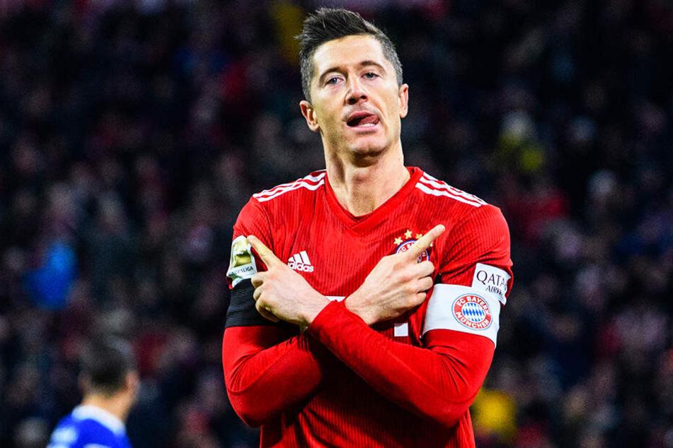 Kann Robert Lewandowski mit dem FC Bayern München seinen Ex-Verein Borussia Dortmund noch einholen?