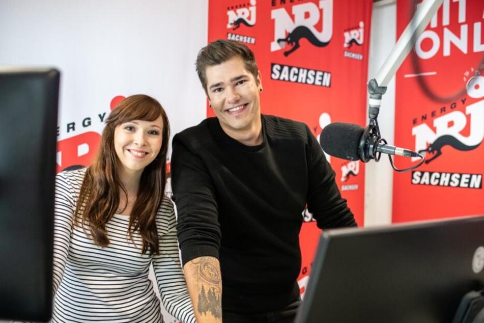 "Das neue Moderatoren-Duo bei ""Radio Energy"": Anna Schmidt und Maximilian Rauh-Nausedat."