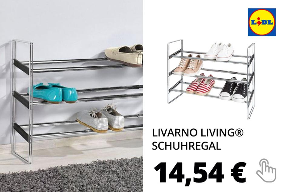 LIVARNO LIVING® Schuhregal, ausziehbar, mit 3 Ablagen