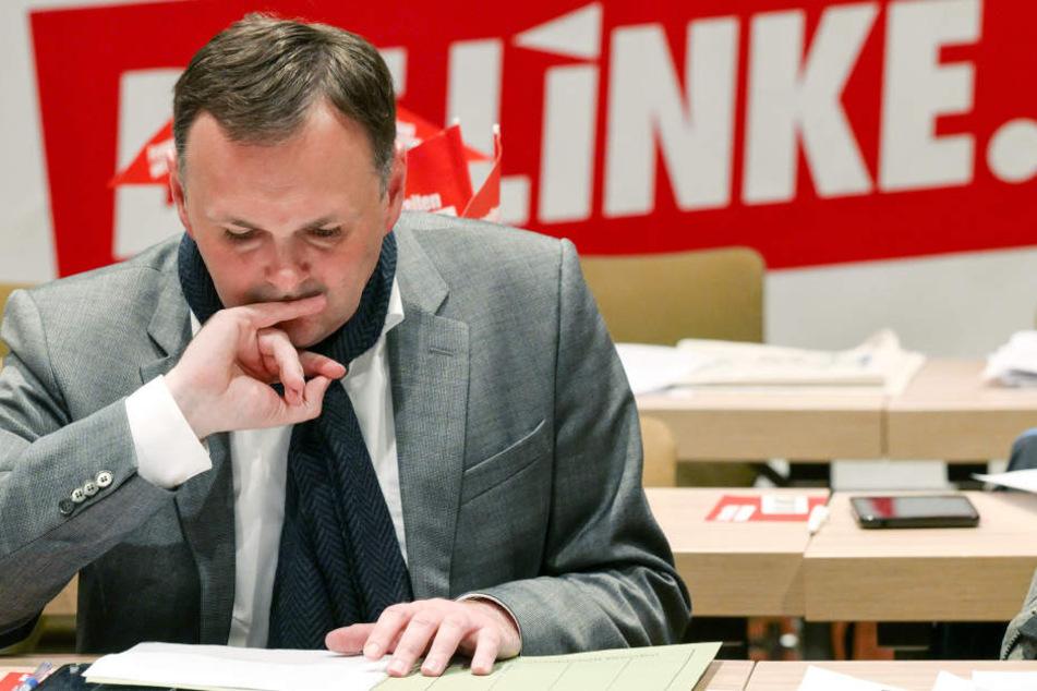 Der Dresdner Landtagsabgeordnete André Schollbach bekam 40,5 Prozent der Stimmen, Feiks 56,2.
