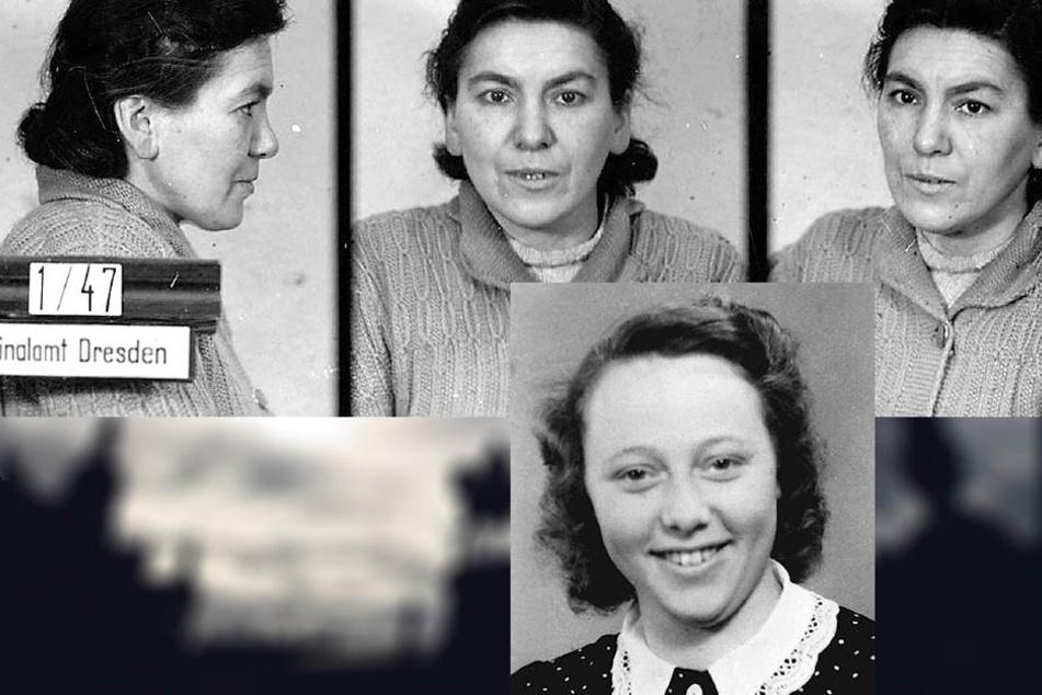 Bis 1990 waren die Knochen der 1947 hingerichteten Doppelmörderin Frieda Lehmann öffentlich im Museum zu sehen (F. oben). Kindergärtnerin Anita Görke (kl. F. unten) hatte viele Verehrer.1949 ließ sie sich auf den Falschen ein - und traf ihren Mörder.