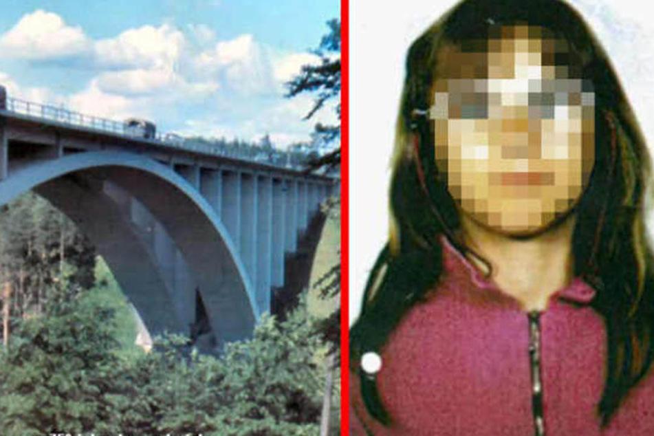 Die damals 10-jährige Stephanie soll von dieser Brücke gestoßen worden sein.
