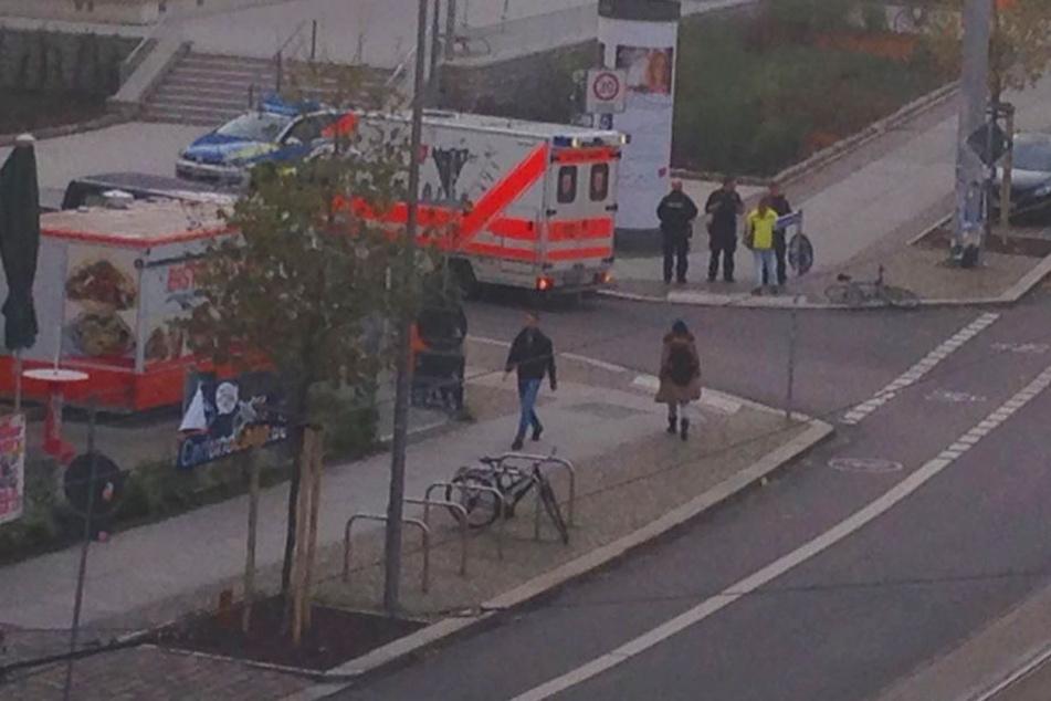 Der Radfahrer wurde glücklicherweise nur leicht verletzt.