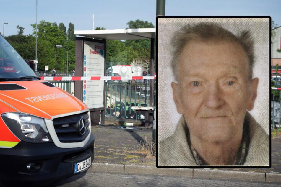 Helmut R. (†70) stand am Dienstag an einer Düsseldorfer Bushaltestelle in Flammen.