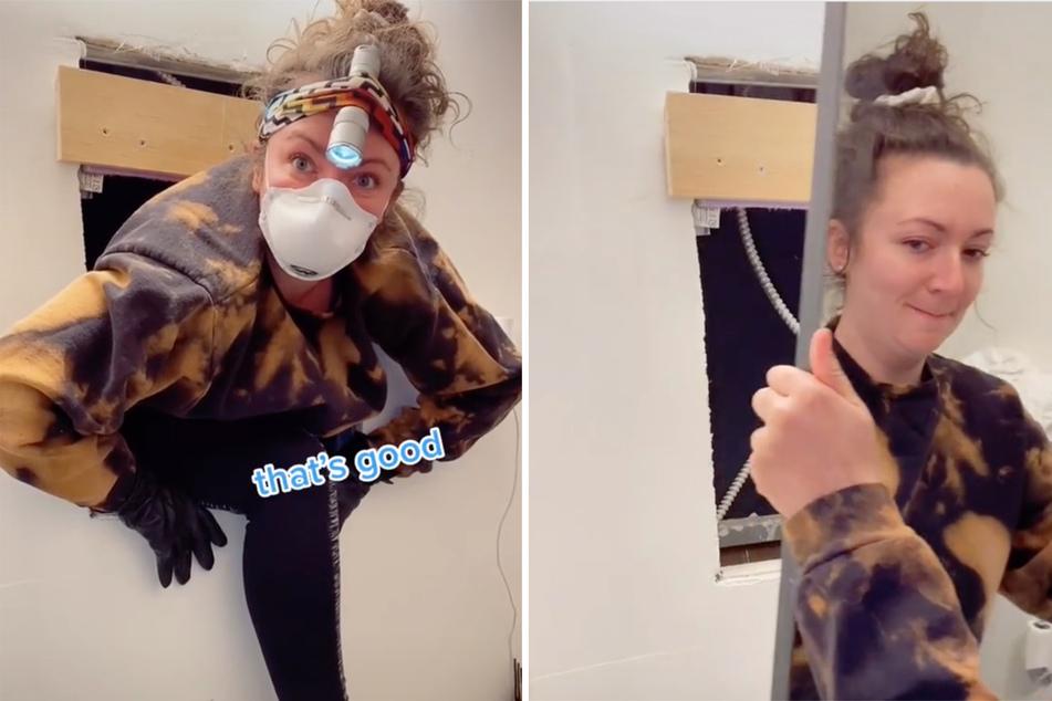 Frau spürt Luftzug hinter Badezimmer-Spiegel und macht gruselige Entdeckung