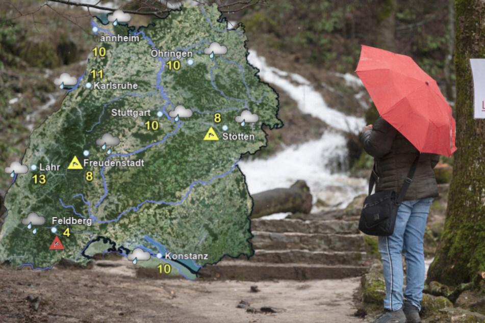 Graue Tage und viel Regen in Baden-Württemberg, Sturmböen möglich
